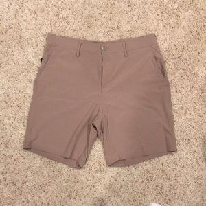 Men's Khaki Performance Shorts